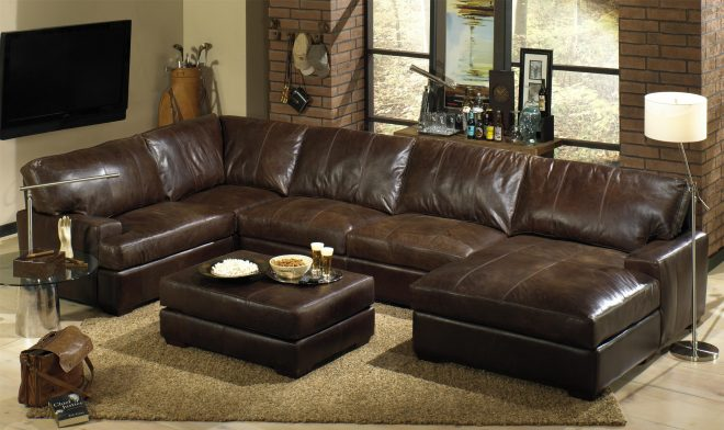 oversized leather sectional sofa with chaise in 2019