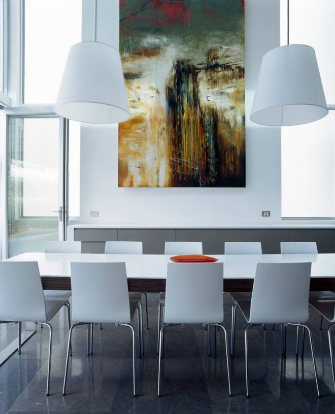 oversized wall art dining room modern coloured kitchen