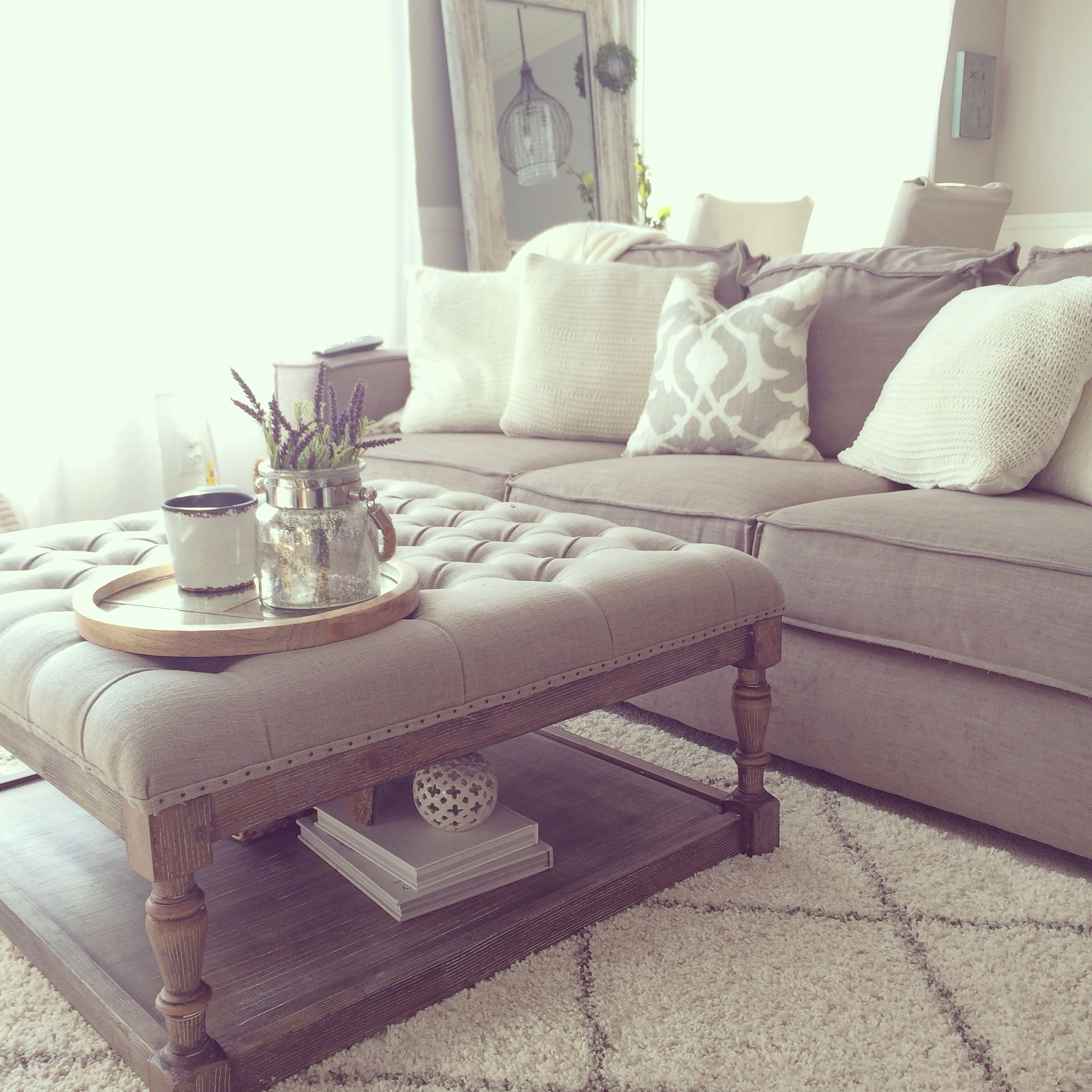 overstock tufted ottoman living room diy crafts pinte