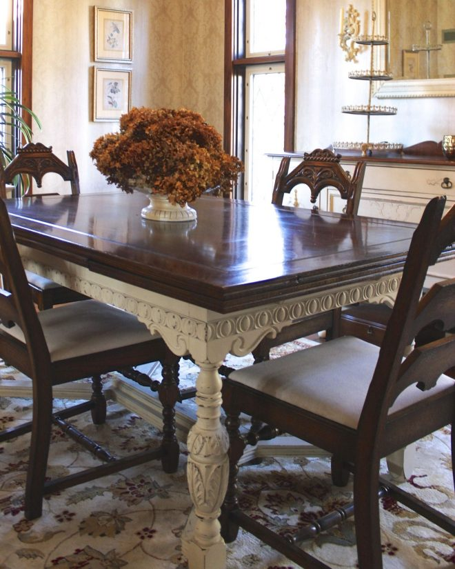 painted furniture dining room table update dining room