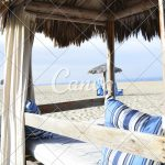 palapa tropical outdoor beach bed luxury seashore relaxation