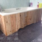 pallet bath panel bathroom ideas pinte