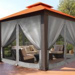 paragon outdoor seville 12x12 gazebo sunbrella rust top