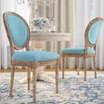 patel round back upholstered dining chair