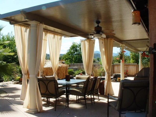 patio ideas covered kits with drapes for enclosed home depot