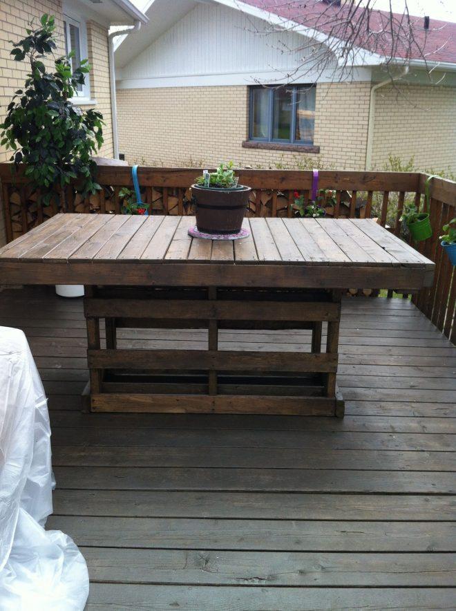 patio pallet table home projects pallet table outdoor