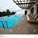 patio swimming pool design stock image image of facility