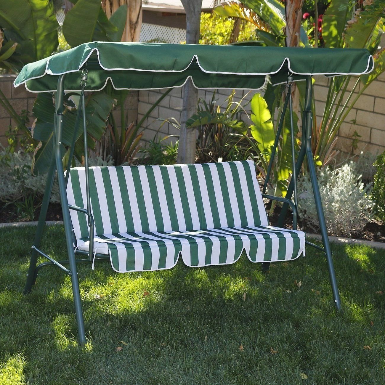 patio swing with canopy clearance cover outdoor black polished