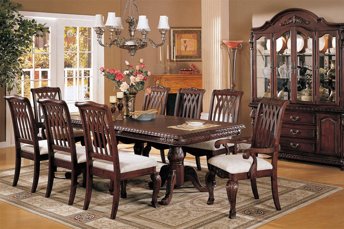 perfect formal dining room sets for 8 homesfeed 1950s dining table