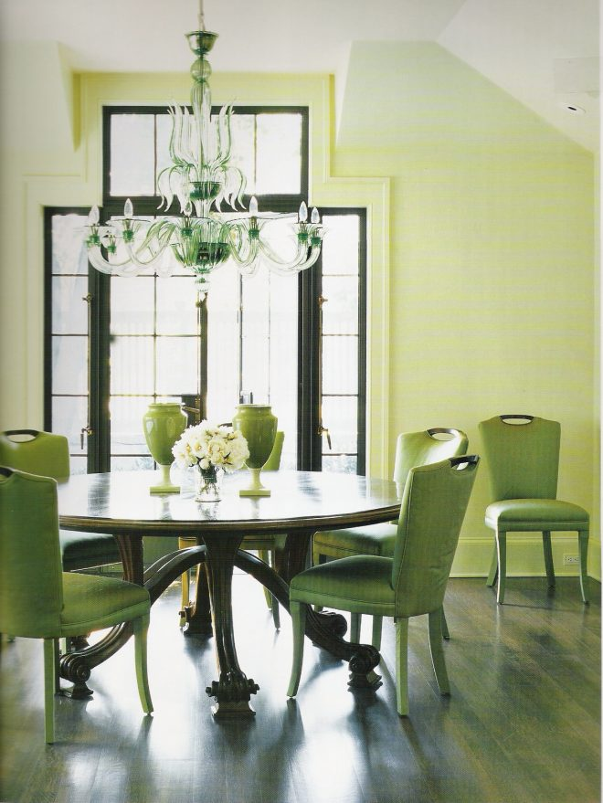 perfect idea green dining chairs