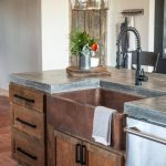 perfection concrete countertops copper sink and like the