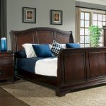 picket house conley cherry wood 2pc bedroom set with king sleigh bed