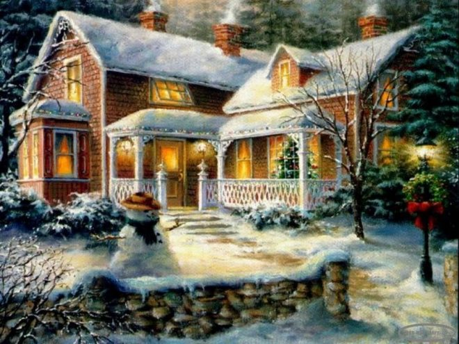 pictures of cottages free christmas cottage wallpaper
