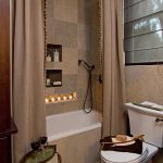 pictures of small bathrooms with shower curtains shower