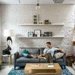 pin aegean on design white brick walls painted brick
