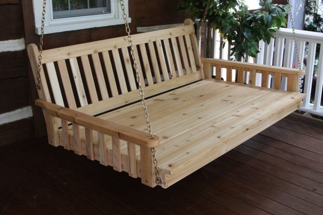 pine 6 traditional english swing bed al porch swing