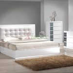 platform bedroom furniture set w upholstered headboard beds