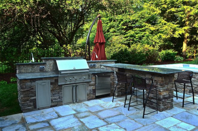 pool designs outdoor pool area with outdoor kitchen the