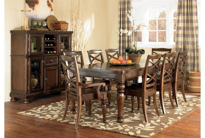 porter 9 piece dining set dining room dining room table