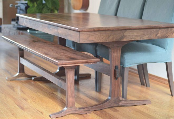 porter extendable walnut dining table