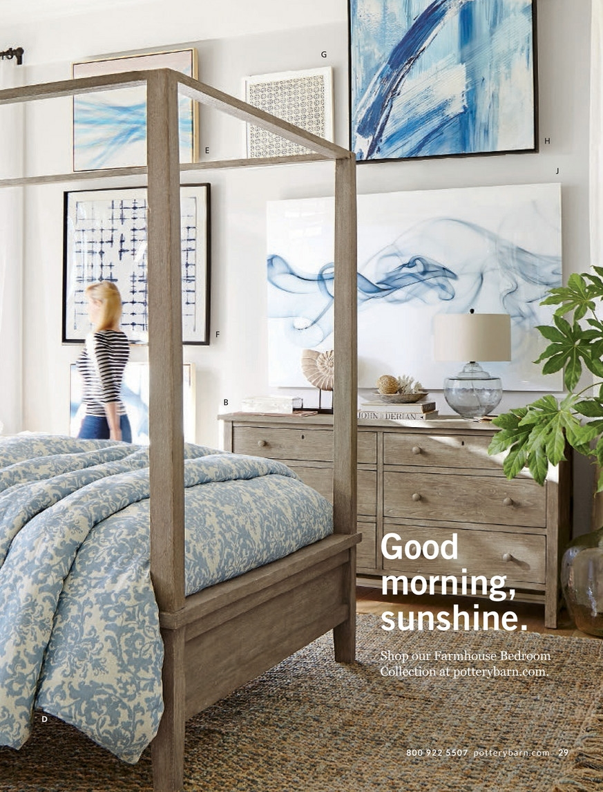 pottery barn summer 2017 d1 farmhouse canopy bed queen