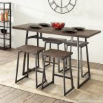 prange industrial 5 piece counter height dining set