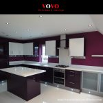 pre assembled kitchen cabinets in high gloss dark purple color with 10cm backsplash buy pre assembled kitchen cabinetsmodern kitchen cabinetsself