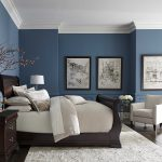 pretty blue color with white crown molding in 2019