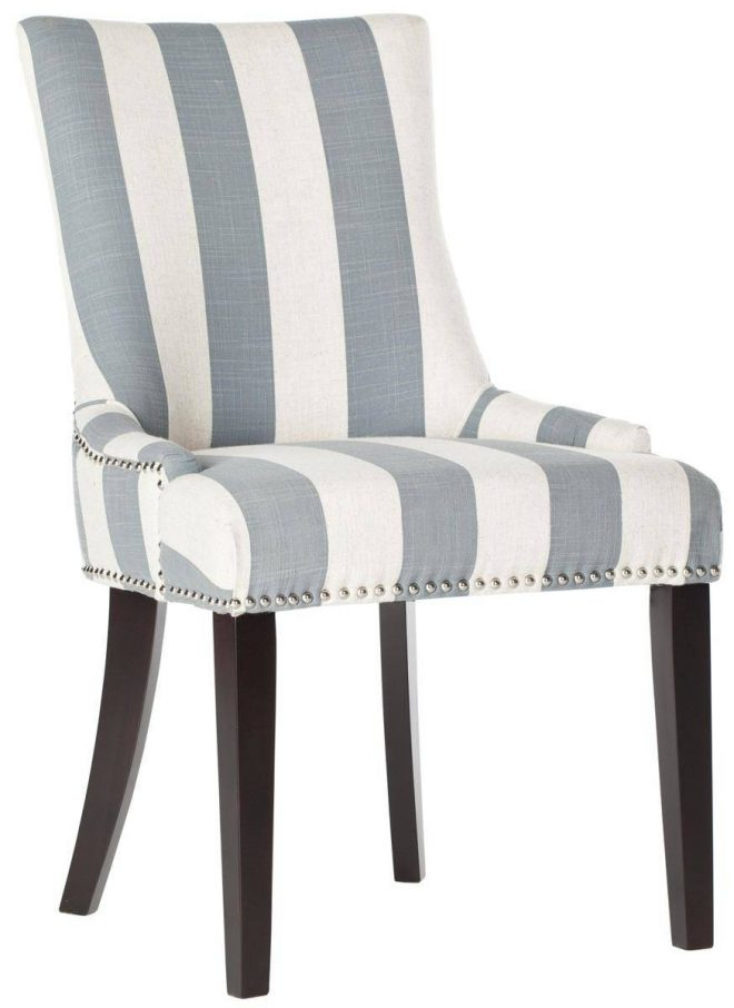 pretty grey and white striped dining chairs cozy furniture
