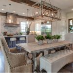 pretty kitchen and dining room with an open floor plan kitchen