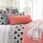 preview full bedroom coral and gray curtains navy mint gold
