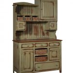 primitive farmhouse kitchen hutch pantry cupboard distressed painted