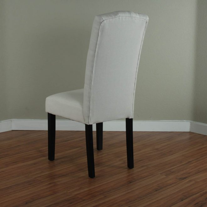 princeton upholstered linen dining chairs set of 2