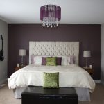 purple accent wall in bedroom feature wall bedroom grey
