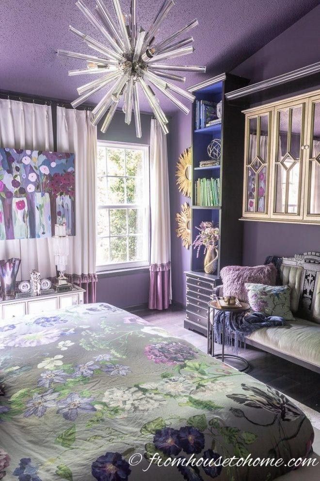 Dark Purple And White Bedroom Opnodes