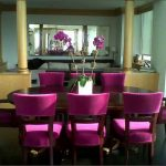 purple leather dining room chairs com of and table images