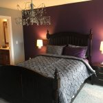 purple rain accent wall benjamin moore purple bedroom