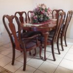 queen anne dining room furniture six white lacquer queen