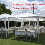quictent 10x30 heavy duty outdoor canopy party wedding tent gazebo pavilion with 5 walls walmart