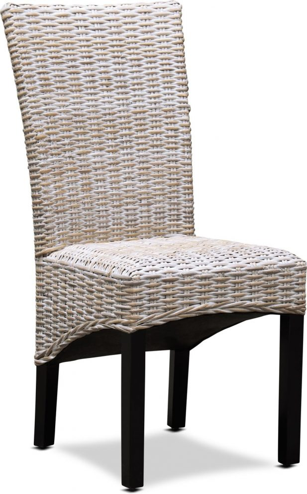 raleigh woven side chair white