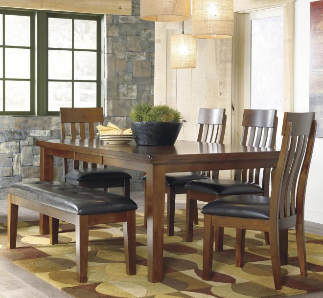 ralene 6 pc dining set with bench