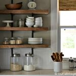 reclaimed wood floating shelves kitchen ideas rustic barn
