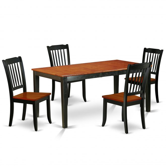 rectangular 5466 inch table with 12 leaf and 4 vertical slatted chairs number of chairs option
