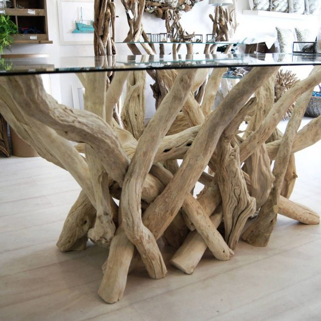 rectangular driftwood dining table in 2020 driftwood