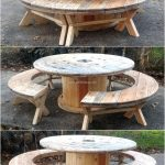 recycled pallet cable reel patio furniture love this