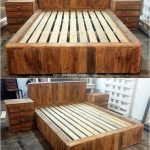 recycled pallet wood bed 47 wooden pallet furniture