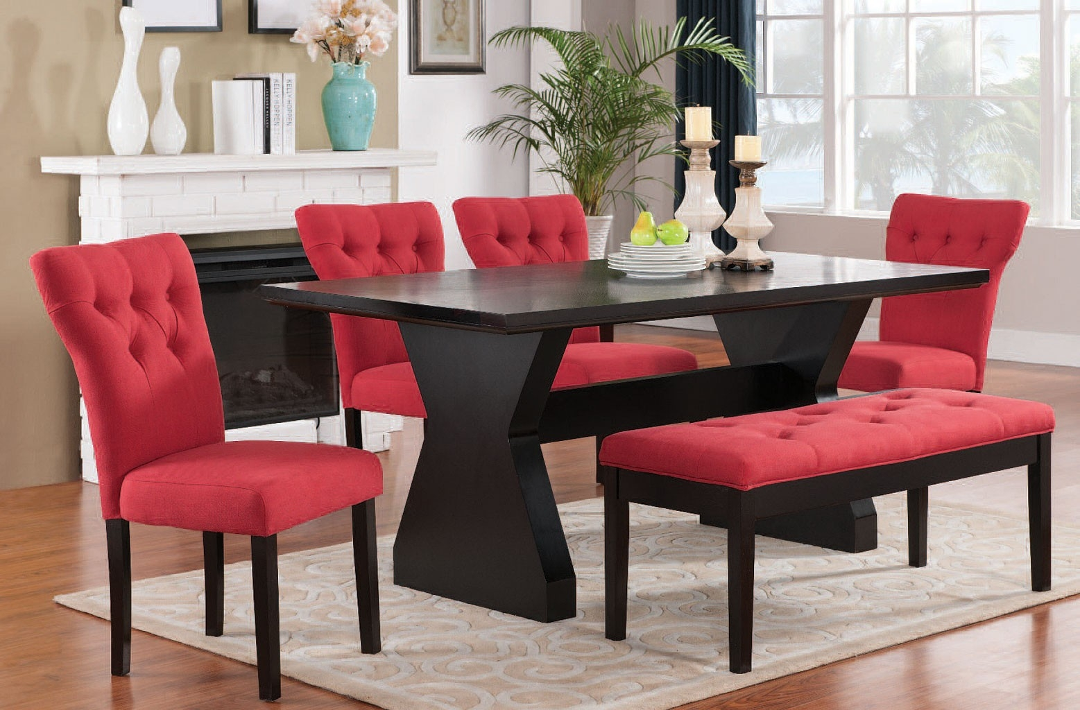 red dining chairs for your dining rooms home decor ideas