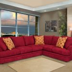 red fabric sectional sofa contemporary l shaped rouge