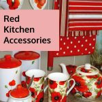 red kitchen accessories red poppy themed kitchen accessories