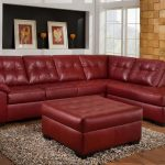 red leather sectional sofa with ottoman dream homedecorideas